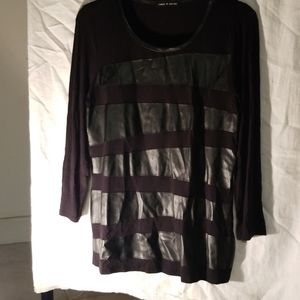 Cable & Gauge  black blouse